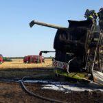 Spłonęło 20 hektarów zboża i kombajn (4)
