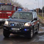 Pożar złomowiska w Przysiece Polskiej (1)