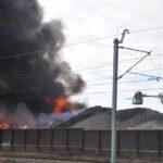 Pożar złomowiska w Przysiece Polskiej