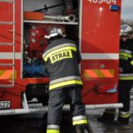Pożar złomowiska w Przysiece Polskiej (2)