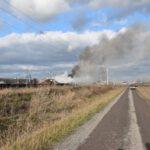 Pożar złomowiska w Przysiece Polskiej (31)