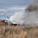 Pożar złomowiska w Przysiece Polskiej (32)