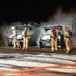 Spłonęły dwa samochody (2)