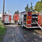 Pożar domu w Czempiniu (1)