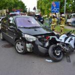 Zderzenie osobówki i motocykla na Nacławskiej (2)