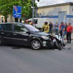 Zderzenie osobówki i motocykla na Nacławskiej (7)