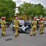Zderzenie osobówki i motocykla na Nacławskiej (8)