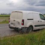 Zderzenie trzech pojazdów w Widziszewie (1)