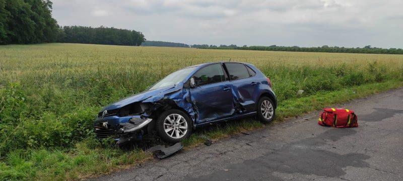 Wypadek między Rogaczewem i Turwią