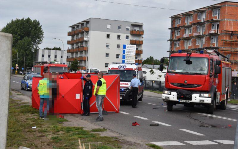 Śmiertelny wypadek na Gostyńskiej w Kościanie [ZDJĘCIA]
